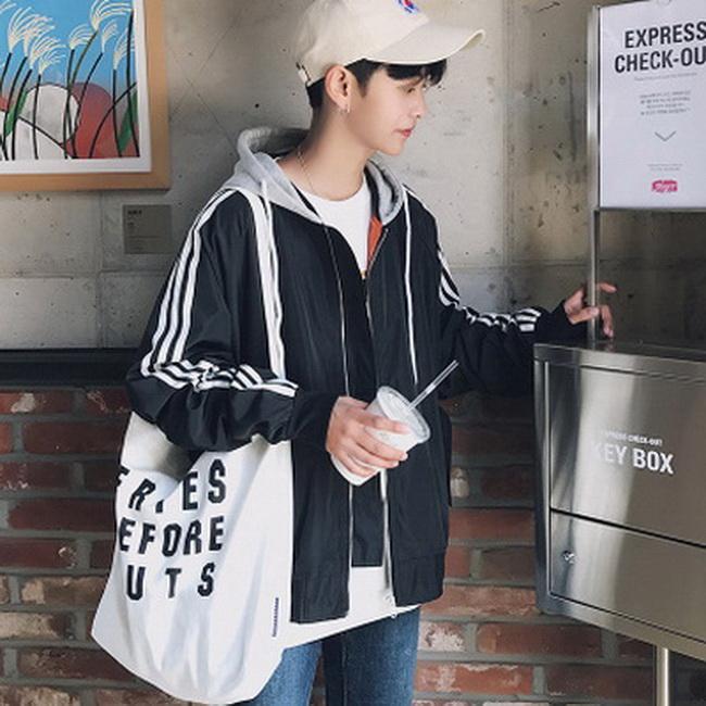 FOFU-外套韓版潮流拼接連帽夾克外套【08B-F0652】