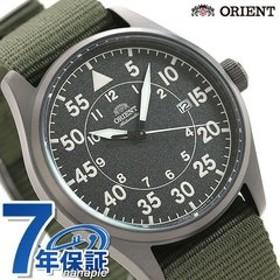 オリエント メンズ 自動巻き 機械式 腕時計 RN-AC0H02N ORIENT 時計 スポーティー グレー×グリーン