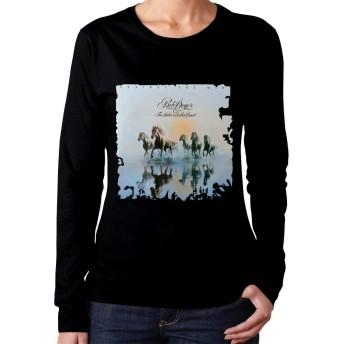 Bob Seger XL Tシャツ レディース 長袖 無地 シンプル デザイン Tシャツ やわらか コットン 快適 長袖 トップス