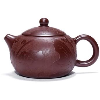 SHENTIANWEI ロータス西市宜興急須のお茶の急須で有名な手作り紫Zhuni (Color : Purple Zhu Mu, Size : ワンサイズ)
