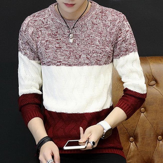 FOFU-毛衣韓版個性針織衫圓領寬鬆保暖毛衣【08B-B1925】