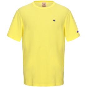 《セール開催中》CHAMPION メンズ T シャツ イエロー L コットン 80% / ポリエステル 20%