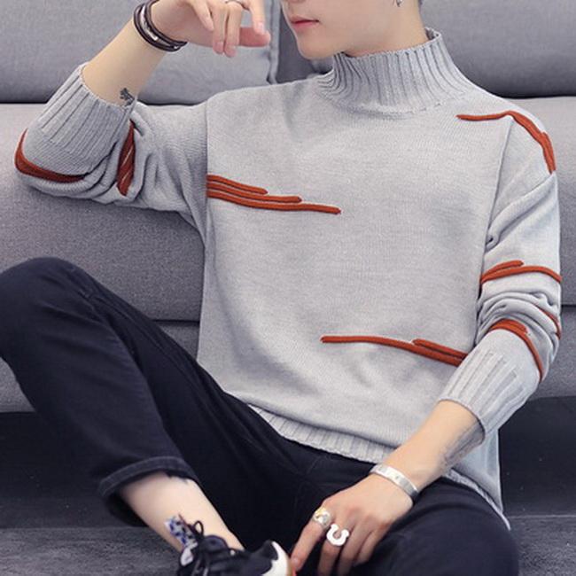 FOFU-(任選2件888)針織衫韓版加厚寬鬆青年套頭針織衫潮流毛衣【08B-B1924】