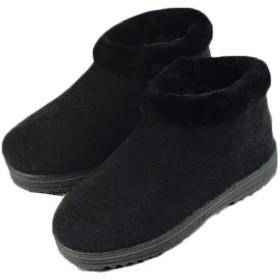 [セイーワイ] スノーブーツ 靴 通気性 通勤 ワークブーツ メンズ 裏ボア シューズ 厚手 綿靴 冬靴 防寒 滑り止め 軽量 アウトドア スノーシューズ ブラック24.5CM