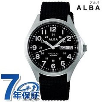 dポイントが貯まる・使える通販| セイコー アルバ メンズ 腕時計 カレンダー ナイロンベルト AQPJ404 SEIKO ALBA クオーツ ブラック 時計 【dショッピング】 腕時計 おすすめ価格