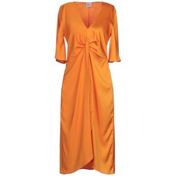 《セール開催中》,MERCI レディース 7分丈ワンピース・ドレス オレンジ 38 ポリエステル 94% / ポリウレタン 6%