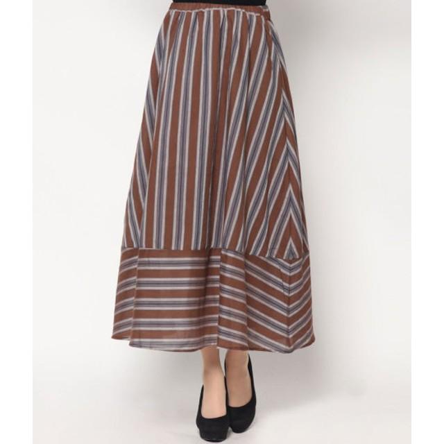 その他スカート - Factor= ストライプギャザースカート