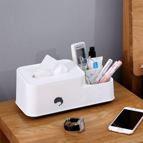 【超取399免運】北歐簡約多功能創意遙控器收納紙巾盒 家用客廳餐廳茶几可愛紙巾盒