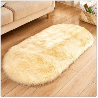高級ぬいぐるみFuaxシープスキンラグマットふわふわFuax毛皮シャグカーペット (Color : 6, Size : 60160CM)