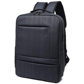 リュック 大容量 リュックサック バックパック ビジネスリュック メンズ ビジネスバッグ パソコン バッグ 防水 耐衝撃 負担軽減 鞄 通勤 通学 カバン 旅行 出張 (ブラック)