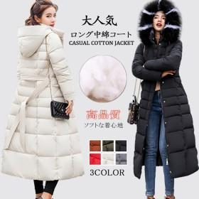 2019 秋冬新作入荷 韓国ファッション レディース 中綿コート 人気 長袖 大きいサイズ ダウン綿 ミディアム コート厚手 暖かい アウター 上質