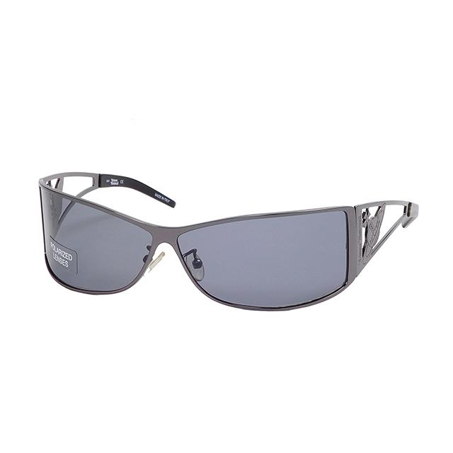 【Vivienne Westwood】英國精品時尚類運動方框系列造型太陽眼鏡(VW59104-黯銀)