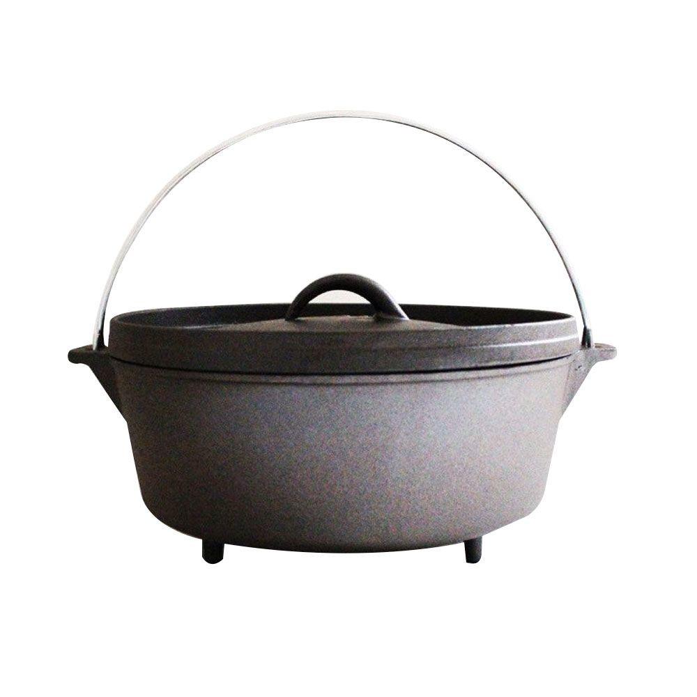 美國 campmaid dutch oven 12吋鑄鐵鍋