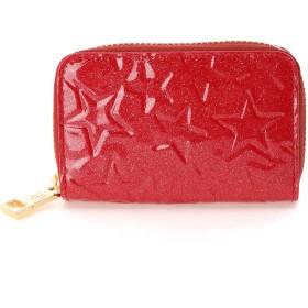 TOPKAPI [トプカピ] TOPKAPI エナメルラウンドファスナーキーコインケース Sparkl star 財布,レッド