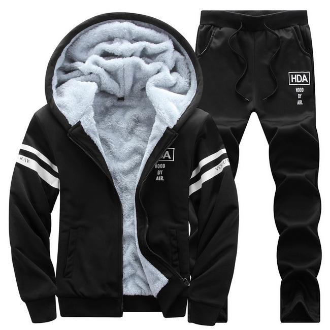 FOFU-套裝運動休閒兩件套潮流加厚保暖套裝開衫外套【08B-M0048】