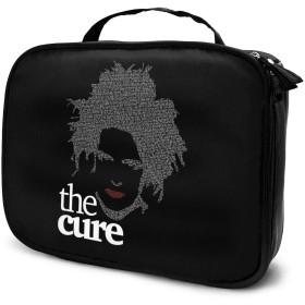 The Cure ザ キュアー メイクバッグ コスメバッグ ト ボックス 出張 日常用軽量 シンプル かわいい レディース 旅行小物入れ キャンバス 長方形 収納上手 小さめ