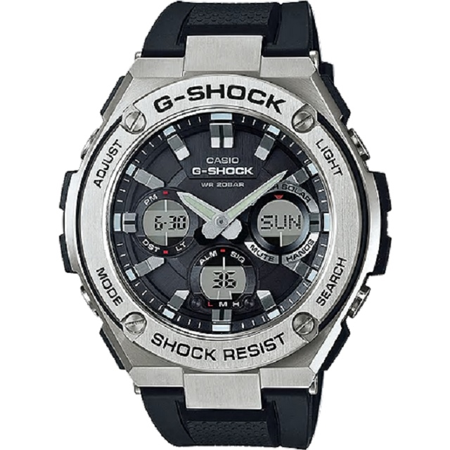 G-SHOCK 絕對強悍太陽能數位手錶-黑色/膠帶(GST-S110-1A)