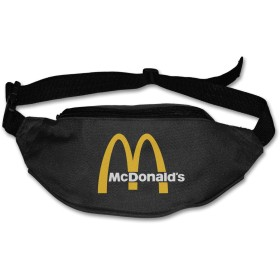 NA Mcdonalds 90s Logo ウエストバッグ ウエストポーチ ヒップバック メンズ レディース 多機能 アウトドア ファッション 最新の 防水 超軽量 調節可能 超大収納 登山 大容量