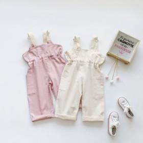 バッグ郵送します2019秋の新型子供服のズボンです女の子と子供のポケット付きズボンです