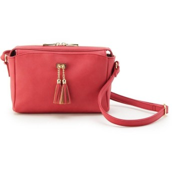pink adobe(ピンクアドベ) タッセル飾りヌバック調ショルダーバッグ