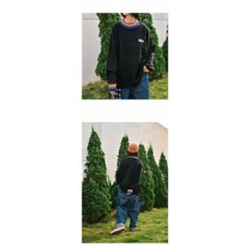 レディース ゆったりワンピース 韓国 秋冬 ニットワンピース レディース 長袖 クルーネック ゆったり 体型カバー 韓国風 インナー エレガ
