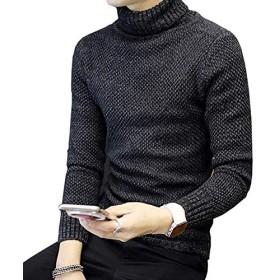 Joy Corn セーター メンズ トップス ニット クルーネック ケーブル編み 丸首 長袖 カジュアル 防寒 あったか おしゃれ カットソー 3色