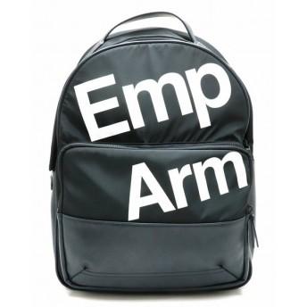 EMPORIO ARMANI エンポリオ アルマーニ バックパック リュックサック ナイロン レザー ブラック 黒 ネイビー 紺 ホワイト 白 (中古)
