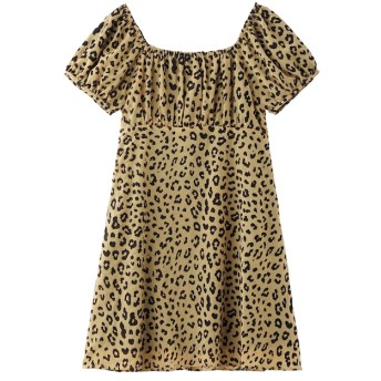 【エックスガール/X-girl】 SHEER LEOPARD DRESS