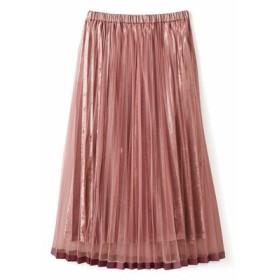 チュールでラッピングベロアスカート〈ダルピンク〉 フェリシモ FELISSIMO【送料無料】