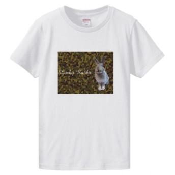 【受注生産】うさぎプリント迷彩柄Tシャツ