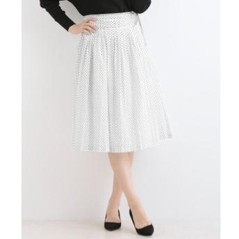 【ニーム/NIMES】 80/-ローンドットプリント 脇リボンスカート