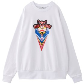 【エックスガール/X-girl】 【calif/X-girl store/大阪店限定】#1 CAT MAN CREW SWEAT TOP