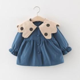 子供用のコート2019新型秋の子供服の女の子用のコートの中に長いカジュアルな洋風が可愛いです
