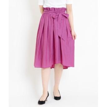 【ニーム/NIMES】 Cu/C/Lタフタ ラップ風スカート