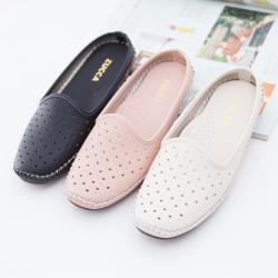 ZUCCA【z6703】縷空透氣休閒拖鞋-黑色/粉色/白色