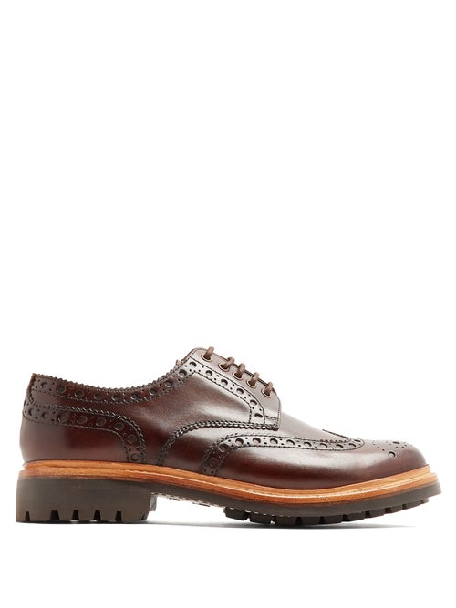 Grenson - Archie Leather Brogues - Mens - Brown