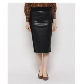 Modify(モディファイ)フェイクレザー切り替えタイトスカート