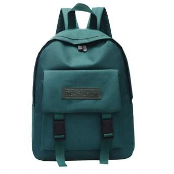 Taykooユニセックス無地ダブルバックルナイロン野生学生バッグバックパック大容量旅行バッグ