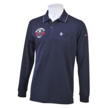 【SALE】Munsingwear(マンシングウェア)ロゴモチーフ長袖シャツ(19FW)MGMOJB05※返品交換不可※