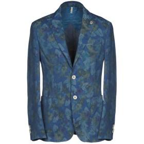 《セール開催中》DOMENICO TAGLIENTE メンズ テーラードジャケット ブルー 48 82% コットン 15% ポリエステル 3% ポリウレタン