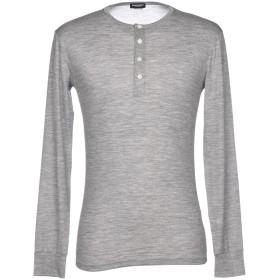 《セール開催中》DSQUARED2 メンズ アンダーTシャツ グレー L 96% ウール 4% ポリウレタン