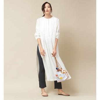 【カリテ/qualite】 フロントタックロングスリットシャツ