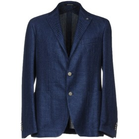 《セール開催中》TAGLIATORE メンズ テーラードジャケット ブルー 52 麻 60% / コットン 40%