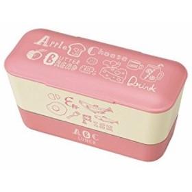 クラフトレシピ ABC レディース ランチ 2段 PK 600ml 電子レンジ対応 食洗機対応 弁当箱 女性 男子 おしゃれ かわいい スリム スクエ
