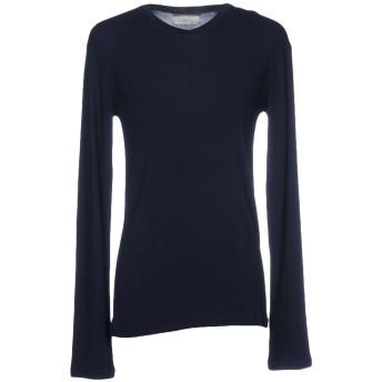 《セール開催中》LANEUS メンズ T シャツ ダークブルー M レーヨン 72% / カシミヤ 24% / ナイロン 4%