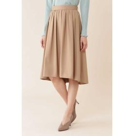【ナチュラルビューティー/NATURAL BEAUTY】 タックギャザーふんわりカラースカート