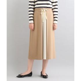 【ニーム/NIMES】 ウォッシャブル圧縮ジャージ バイカラースカート