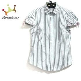 ブラックレーベルポールスミス 半袖シャツブラウス サイズ38 M レディース 白×グリーン×マルチ   スペシャル特価 20200122