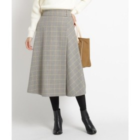 Dessin / デッサン 【S~Lサイズあり、洗える】チェック裏起毛ラップ風スカート