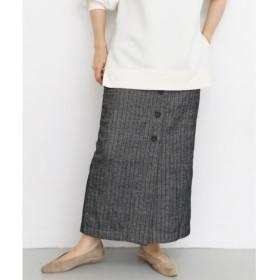 【ケービーエフ/KBF】 KBF フロントボタンストライプスカート